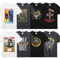 T-shirt Youth fashion routine M L XL XXL XXXL Agitation Short sleeve Crew neck standard daily summer 17-8-3-0004 Cotton 100% teenagers routine tide Knitted fabric Summer 2017 character printing cotton Human landscape Domestic non famous brands Pure e-commerce (online only) More than 95%