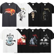 T-shirt Youth fashion routine M L XL XXL XXXL Agitation Short sleeve Crew neck standard daily summer Cotton 100% teenagers routine tide Summer 2017 printing cotton Figure pattern Domestic non famous brands Pure e-commerce (online only) More than 95%