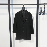 woolen coat black S,M,L,XL,2XL,3XL,XS 9 Charms Business gentleman 9m routine go to work standard youth Single breasted winter