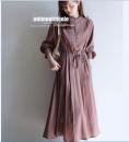 Dress Summer 2020 Brown S,M,L,XL,2XL longuette singleton  commute middle-waisted Socket other