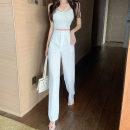 Casual pants White, purple, black, pink S,M,L Summer 2021 trousers Wide leg pants High waist commute 18-24 years old Korean version