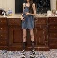 Dress Spring 2021 Denim blue Average size Short skirt singleton  Sleeveless commute 18-24 years old Korean version