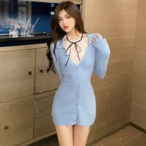 Fashion suit Spring 2021 S,M,L Blue, black, white lace 18-25 years old