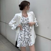 Fashion suit Spring 2021 S, M Suspender skirt, white suit, black suit 18-25 years old