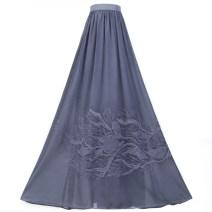skirt Summer 2021 M, S F25 × wuz130 gray blue Versatile High waist 51% (inclusive) - 70% (inclusive) other