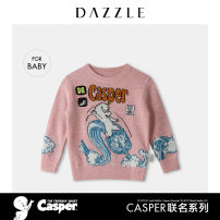 Sweater / sweater 100cm 120cm wool blend  neutral Pink Blue Dazzle / geoelement leisure time Official pictures Socket Crew neck nothing Cartoon animation Wool 50% polyacrylonitrile fiber (acrylic fiber) 27% polyamide fiber (nylon fiber) 23% 2D1E4851G Class B spring and autumn