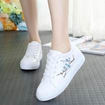 canvas shoe Other / other Low Gang 8893 white standard 8893 green standard WD standard 2819 blue by one size 2819 pink by one size 6610 white standard 6610 pink standard 33 35 36 37 38 39 40 Spring of 2018 Frenulum leisure time rubber Color matching Cross tie color matching