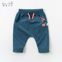 trousers DAVE&BELLA male 73cm 80cm 90cm 100cm 110cm 120cm 130cm spring and autumn trousers Europe and America No model Harlem Pants / knickerbockers Leather belt middle-waisted cotton Other 100% Class A Spring 2020