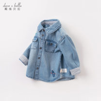 shirt Denim [regular style] [spot] denim [Plush style] [spot] denim [regular style] - pre sale denim [Plush style] - pre sale DAVE&BELLA male 73cm 80cm 90cm 100cm 110cm 120cm 130cm 140cm spring and autumn Long sleeves Europe and America other other Lapel and pointed collar Other 100% DBX14759