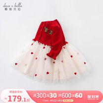 Dress female DAVE&BELLA Other 100% spring and autumn Europe and America Long sleeves other A-line skirt 3 months 12 months 6 months 9 months 18 months 2 years 3 years 4 years 5 years 6 years 7 years old