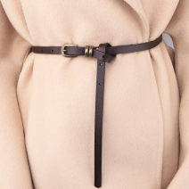 Belt / belt / chain Double skin leather female belt Versatile Single loop Youth, youth, middle age Pin buckle Glossy surface soft surface 1cm alloy alone Other / other