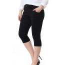 Leggings Summer 2021 black Thin money Capris / Capris 25-29 years old nylon 51% (inclusive) - 70% (inclusive)