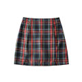 skirt Summer 2020 S,M,L Graph color Short skirt High waist A-line skirt lattice 25-29 years old LX   455035 30% and below