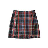 skirt Summer 2020 S,M,L Graph color Short skirt High waist A-line skirt lattice 25-29 years old LX   455035 30% and below
