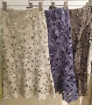 skirt Spring 2021 S, M Blue, beige, mocha, 10 yuan for the buyer longuette Sweet High waist High waist skirt Solid color 51% (inclusive) - 70% (inclusive) solar system
