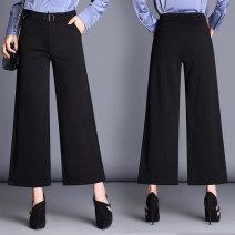 Casual pants Black (881 Capris), black (882 Capris) S,M,L,XL,2XL,3XL Spring 2021 trousers Wide leg pants High waist Versatile routine 96% and above XASDK882-32 Sderl / sundel pocket nylon