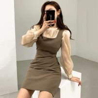 Fashion suit Winter of 2019 S, M White shirt, apricot shirt, khaki dress 18-25 years old Other / other 51% (inclusive) - 70% (inclusive)