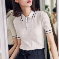 T-shirt White, black, red, navy 2 / s, 3 / m, 4 / L, 5 / XL Summer 2021 Short sleeve Polo collar Self cultivation Regular routine commute Viscose 86% (inclusive) -95% (inclusive) Color block, solid Pretend to be amashizheng Button, official website of amashi flagship store