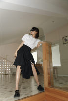 skirt Summer 2020 S,M,L black Mid length dress
