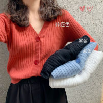 Wool knitwear Spring 2020 Average size Black, blue, white, green, yellow, red Long sleeves singleton  Cardigan Viscose 51% (inclusive) - 70% (inclusive) commute easy V-neck routine Solid color Single breasted 25-29 years old thread