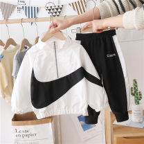 suit Other / other White, black, collectible and free insurance 90cm, 100cm, 110cm, 120cm, 130cm, 140cm, 150cm and 160cm respectively neutral spring and autumn leisure time Long sleeve + pants 2 pieces routine There are models in the real shooting Socket nothing Solid color polyester elder Class B