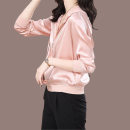 short coat Spring 2020 L,XL,3XL,M,XXL Long sleeves routine routine singleton  Straight cylinder routine Hood zipper Solid color 30-34 years old 91% (inclusive) - 95% (inclusive) zipper silk
