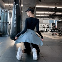 Sports skirt A skirt Purplish red, light blue, dark blue, black, lavender purple Other / other female Average size (adult) Spring 2021 Sports & Leisure Moisture absorption and perspiration, anti ultraviolet, quick drying, ultra light, breathable Women's training polyester fiber