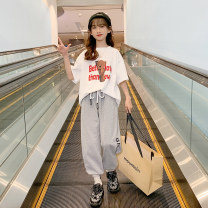 T-shirt White, full size, please don't be greedy, collection plus purchase priority delivery Other / other 120cm,130cm,140cm,150cm,160cm,170cm female summer Short sleeve Crew neck Korean version There are models in the real shooting nothing cotton Cartoon animation Other 100% A7616 Class B other
