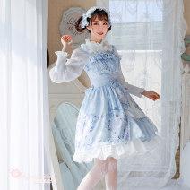 Lolita / soft girl / dress Magic tea party Pink - full, light blue - full S,M,L,XL Lolita
