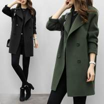 woolen coat Autumn 2020 S,M,L,XL,2XL,3XL Green, black, caramel, white vest other 31% (inclusive) - 50% (inclusive) Medium length Long sleeves commute double-breasted routine tailored collar Solid color Korean version Other / other Solid color polyester fiber