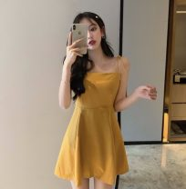 Dress Summer 2020 Gold, black M,L,XL,XXL Miniskirt singleton  middle-waisted Solid color Socket Ruffle Skirt Other / other