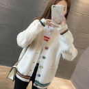 Wool knitwear Winter of 2019 Average size Khaki, white, red, blue, yellow, black, white leggings Long sleeves singleton  Cardigan other 71% (inclusive) - 80% (inclusive) Medium length routine commute easy V-neck routine Single breasted Korean version 18-24 years old Other / other