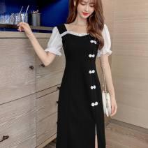 Dress Summer 2021 Black, white vest S,M,L,XL,2XL
