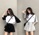 T-shirt Black, gray M,L,XL,2XL Summer 2020 elbow sleeve Crew neck easy routine Sweet cotton 96% and above 18-24 years old youth Other / other