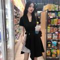 Dress Summer 2020 Black and white Leggings M,L,XL,XXL singleton  High waist Solid color Socket Irregular skirt Other / other