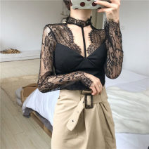 Lace / Chiffon Spring 2020 White, black Average size (160 / 84A) commute Socket singleton  Self cultivation have cash less than that is registered in the accounts stand collar routine 18-24 years old Other / other G81 Retro