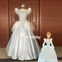 Cosplay women's wear skirt Customized Over 6 years old Princess skirt + headband + gloves Animation, original 50. M, s, XL, customized Xuanmansheng Chinese Mainland Cinderella Princess Dress