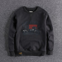 Sweater Fashion City Others Dark grey, orange, army green S,M,L,XL,2XL other Socket Plush Crew neck winter Straight cylinder leisure time youth tide washing