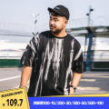 T-shirt Youth fashion black routine XL 2XL 3XL 4XL 5XL 6XL THE PANG Short sleeve Crew neck easy Other leisure summer TXD102074 Cotton 100% Large size routine tide Sweat cloth Spring 2021 other printing other other Pure e-commerce (online only)