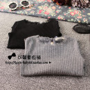 T-shirt Black, gray Other / other 7(90cm),9(100cm),11(110cm),13(120cm),15(130cm) female spring and autumn Long sleeves nothing other Solid color 2 years old, 3 years old, 4 years old, 5 years old, 6 years old