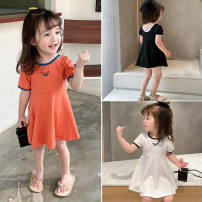 Dress Black, white, orange female Other / other 7(90cm),9(100cm),11(110cm),13(120cm),15(130cm) Other 100% summer other Short sleeve other other other 2 years old, 3 years old, 4 years old, 5 years old, 6 years old