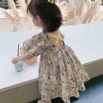 Dress Graph color female Other / other 7,9,11,13,15 Other 100% summer Korean version Short sleeve Broken flowers other other 2 years old, 3 years old, 4 years old, 5 years old, 6 years old