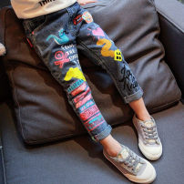 trousers Other / other female 7,9,11,13,15 Picture color D spring and autumn trousers Korean version Jeans Jeans 2 years old, 3 years old, 4 years old, 5 years old, 6 years old