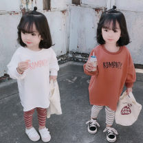 Dress White, orange female Other / other 7(90cm),9(100cm),11(110cm),13(120cm),15(130cm) Other 100% spring and autumn Korean version Long sleeves other other other 2 years old, 3 years old, 4 years old, 5 years old, 6 years old