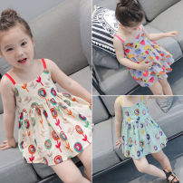 Dress Apricot, green female Other / other 7(90cm),9(100cm),11(110cm),13(120cm),15(130cm) Other 100% summer Korean version other other 2 years old, 3 years old, 4 years old, 5 years old, 6 years old