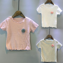 T-shirt White, pink, green Other / other 7,9,11,13,15 female summer Short sleeve Korean version nothing other other Six, five, four, three, two