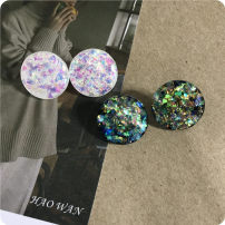 Ear Studs other RMB 1.00-9.99 Other / other Dazzle color (white) dazzle color (green) brand new Japan and South Korea female goods in stock Fresh out of the oven
