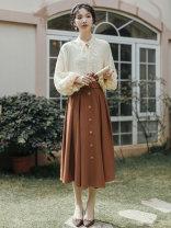 Fashion suit Spring 2021 S,M,L Shirt + skirt