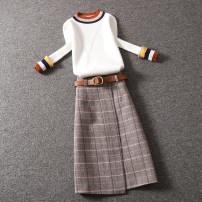 Fashion suit Winter 2020 S,M,L,XL White + khaki, apricot + khaki, black + grey 25-35 years old D1603+FC0091