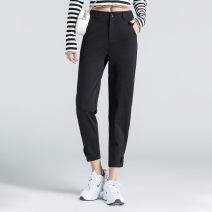 Casual pants Black, beige 1/XS,2/S,3/M,4/L,5/XL,6/2XL Spring 2021 trousers Haren pants High waist Versatile routine 51% (inclusive) - 70% (inclusive) 5100468-1089956-001 Brother amashsin nylon pocket nylon